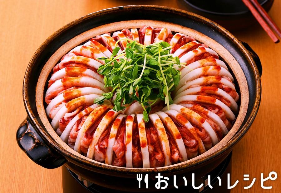 大根ミルフィーユキムチ鍋