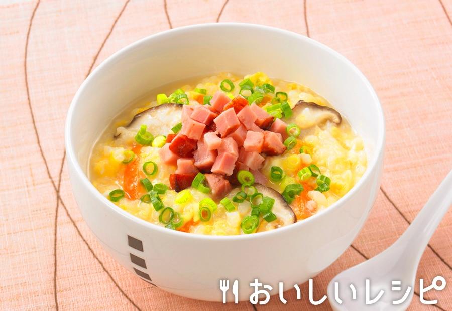 コロコロ焼豚雑炊