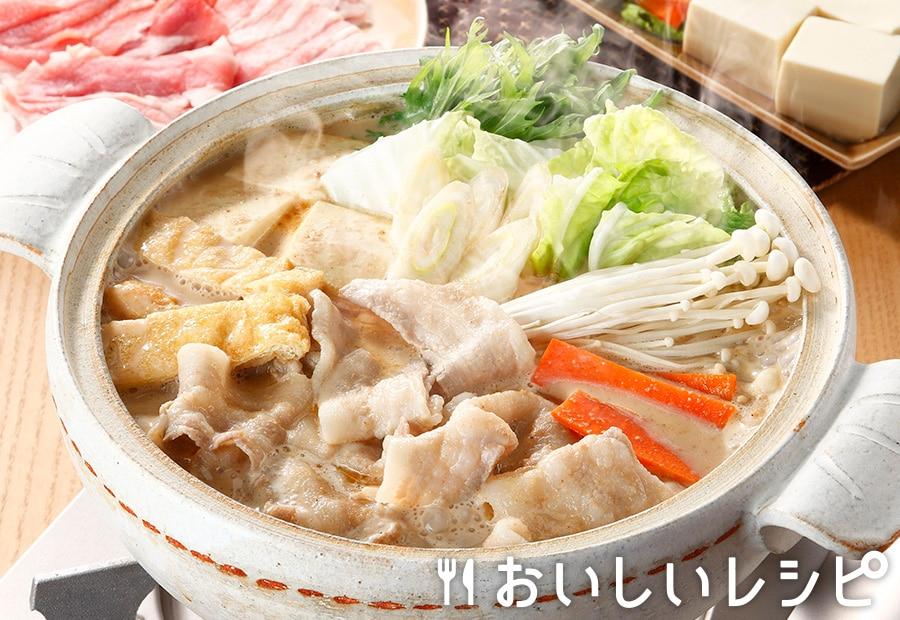 豚バラ肉の団らん豆乳ごま鍋