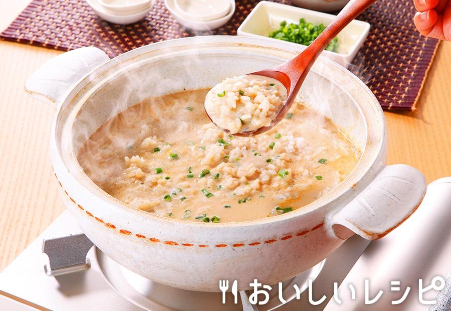 〆の豆乳ごま雑炊
