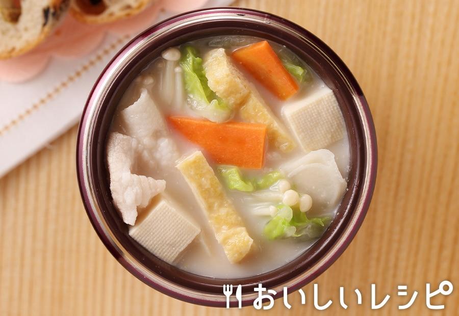 スープジャー★豆乳ごま鍋
