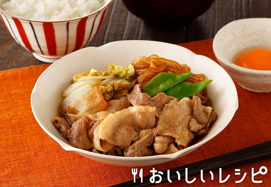 豚肉と白菜のすき煮