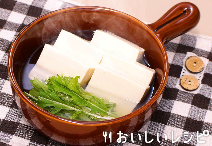 レンジで簡単湯豆腐(ちゃんこ鍋)