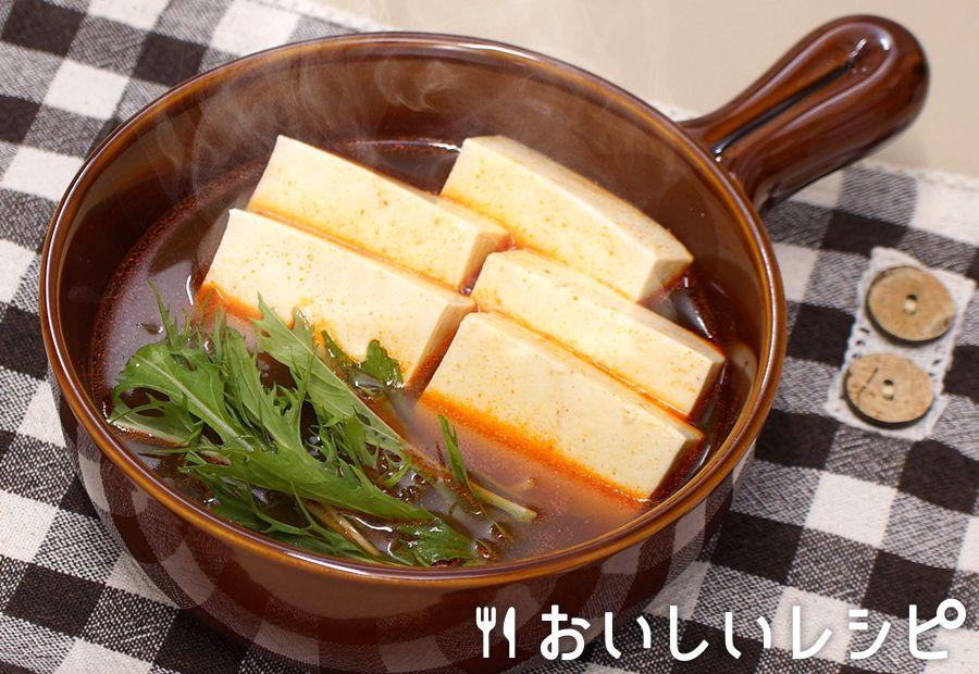 レンジで簡単湯豆腐(スンドゥブチゲ)