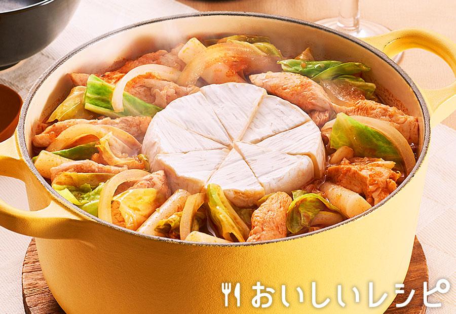 カマンベールチーズスンドゥブ鍋