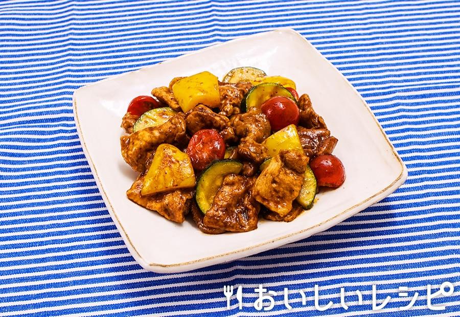 夏野菜のカラフル中華炒め