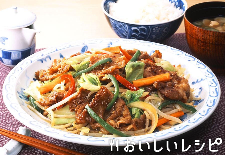お肉と野菜の炒め物(減塩焼肉のたれ)