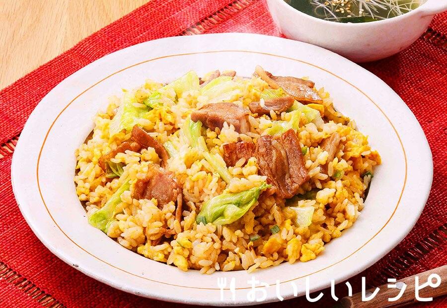 豚バラレタス炒飯(減塩焼肉のたれ)