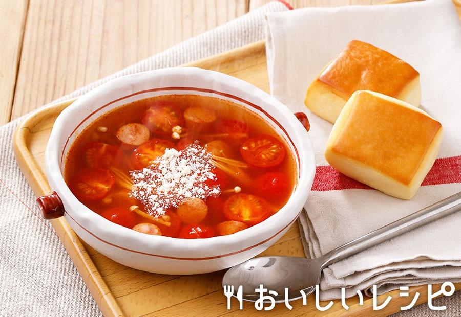 ミニトマトの赤のスープ