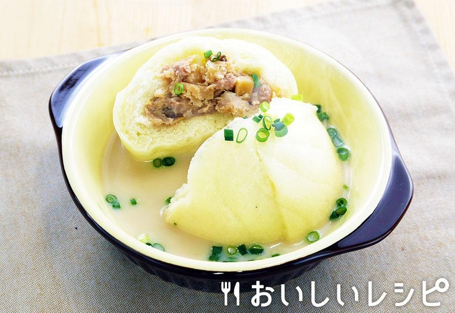 肉まんスープ(ペリメニ風)