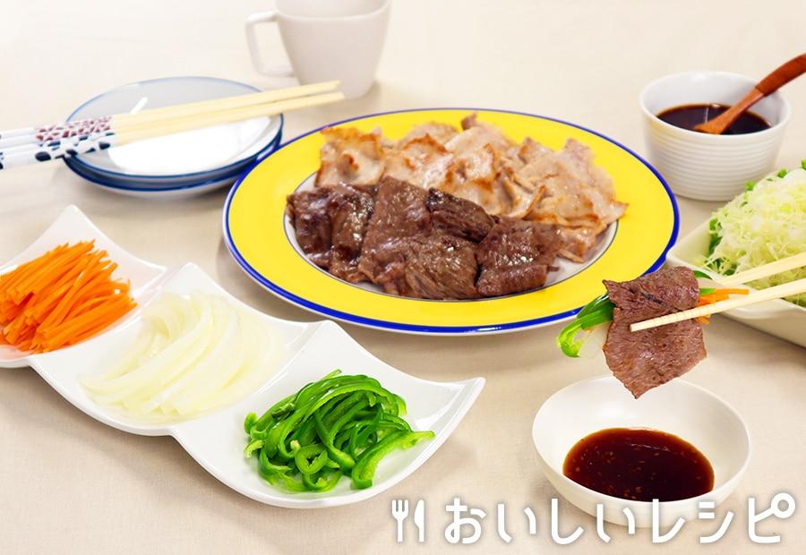 レンチン野菜で!にんたまピー焼肉
