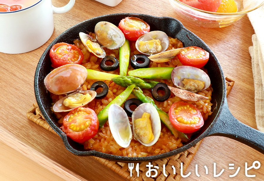 スキレットごはん(パエリア定食)