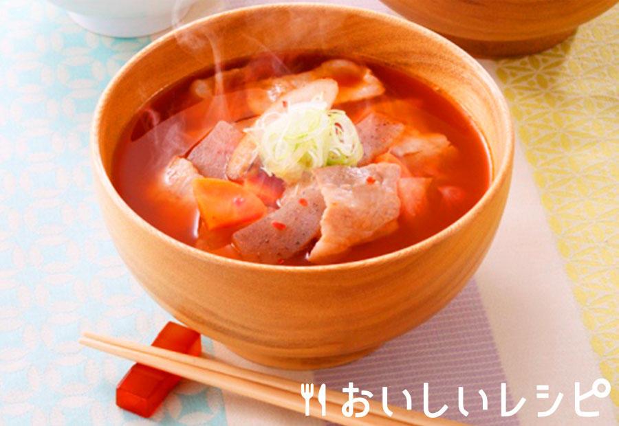 冷凍野菜を使って!キムチ豚汁