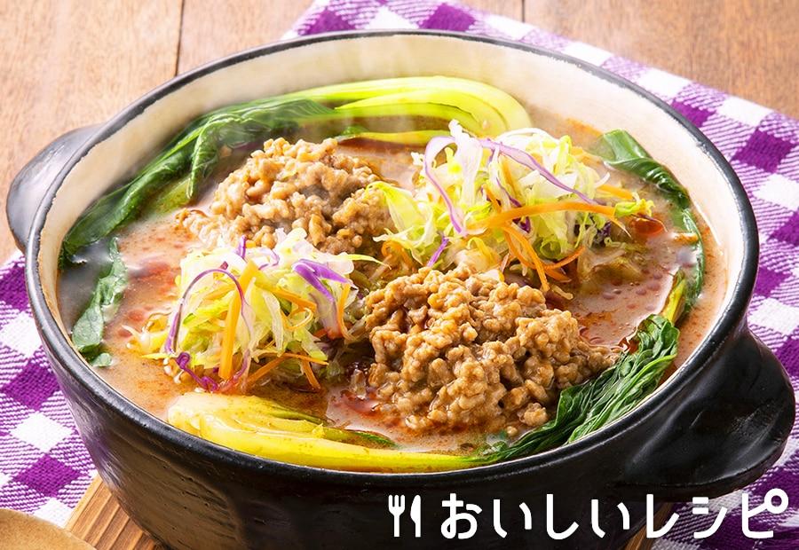 カット野菜で簡単担々ごま鍋