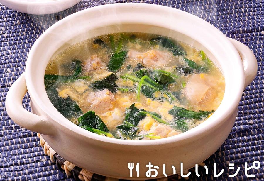 冷凍野菜を使って!ほうれんそうのかき玉鍋