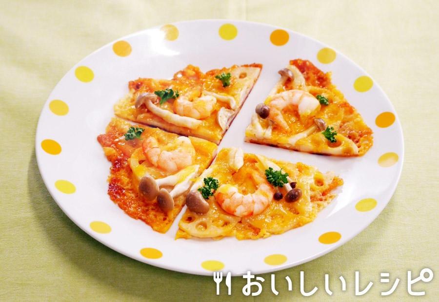 れんこんチーズピザ