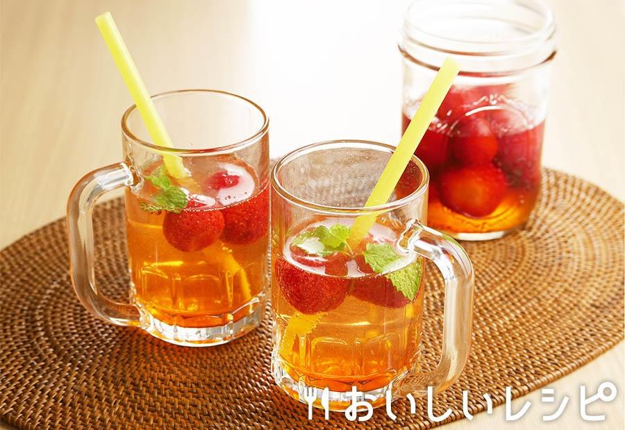 フルーツ甘酢のソーダ割り いちご