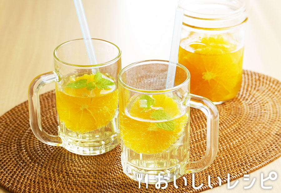 フルーツ甘酢のソーダ割り オレンジ