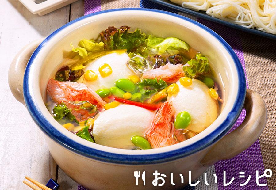 豆腐とカニカマの冷やしちゃんこ鍋