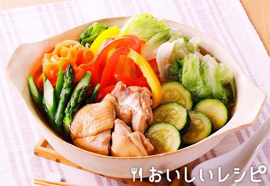 夏野菜たっぷり彩り寄せ鍋