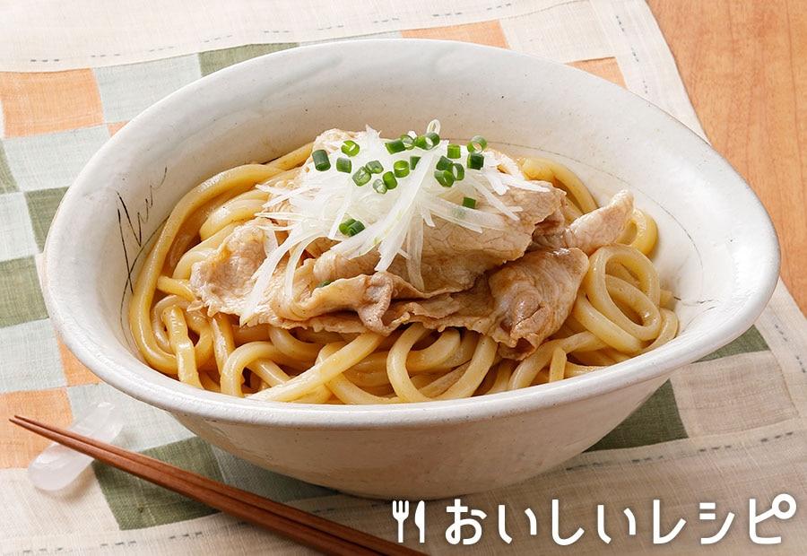 オニオン冷しゃぶうどん(魚介とんこつ醤油味)