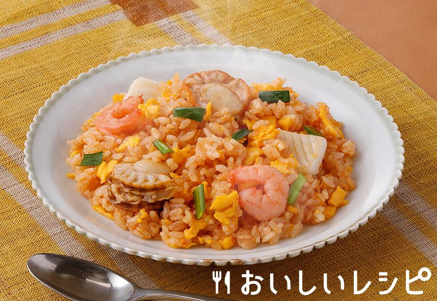 シーフードと炒めて☆ごはんズ(ユッケジャン味)