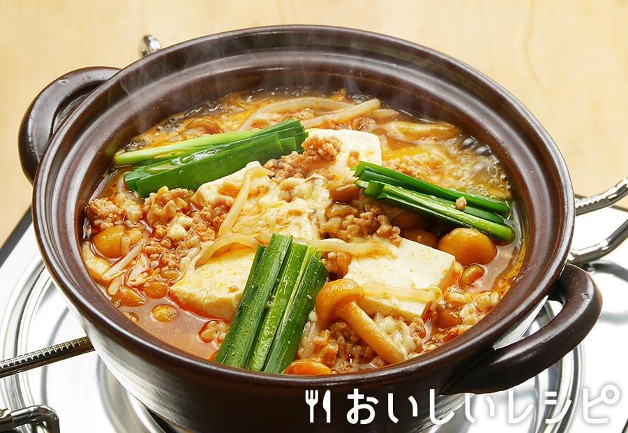 納豆キムチチーズ鍋