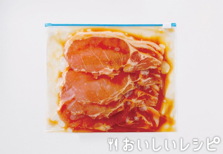 下味冷凍肉(豚肉の黄金生姜焼き用)
