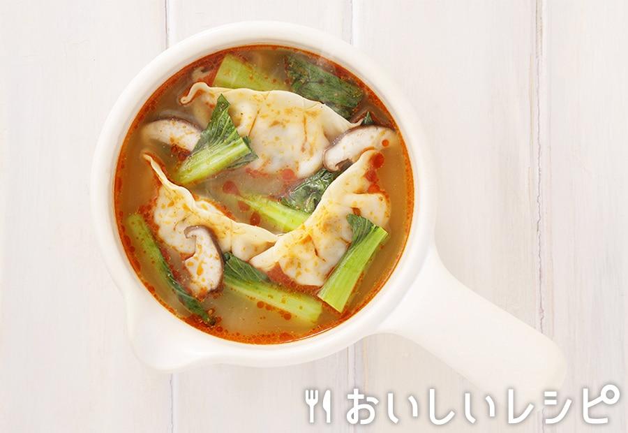 myおかずスープ 担々スープ餃子
