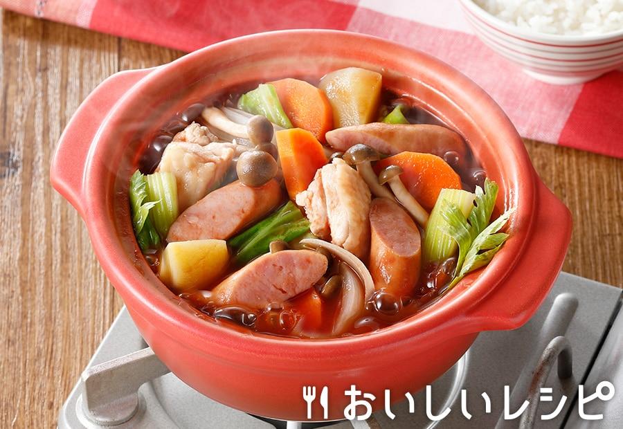トマトジュースで作る!和風ミネストローネ鍋