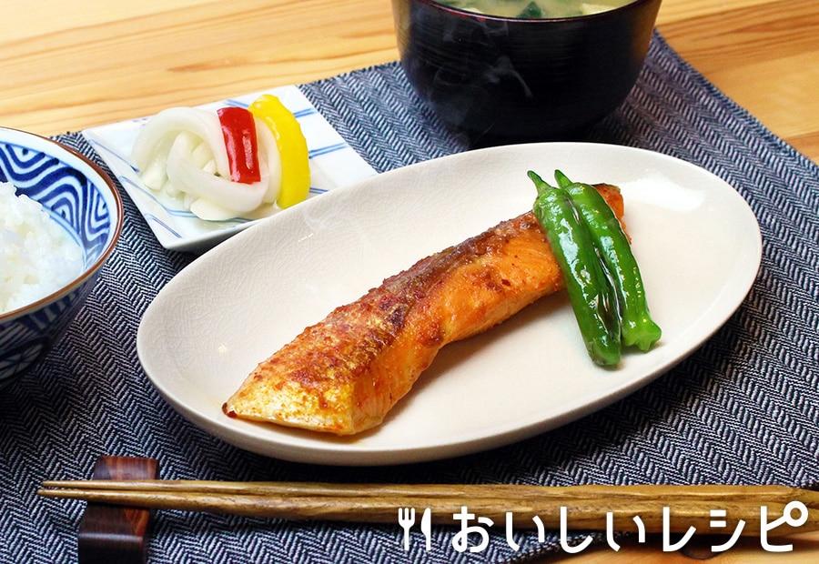 鮭のキムチ漬け焼き